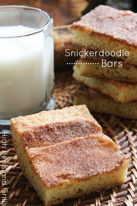 High Heels & Grills: Snickerdoodle Bars