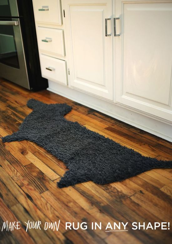 Make your own rug in ANY shape!