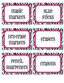 zebra print labels for the classroom: Teachers Pay Teachers