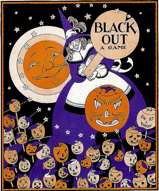 Child Life--Hazel Frazee--Witch and JOL Game-vintage Halloween