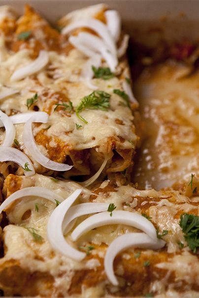 Spicy Chicken Enchiladas