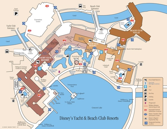 Disney Resorts -- Beach Club Resort map