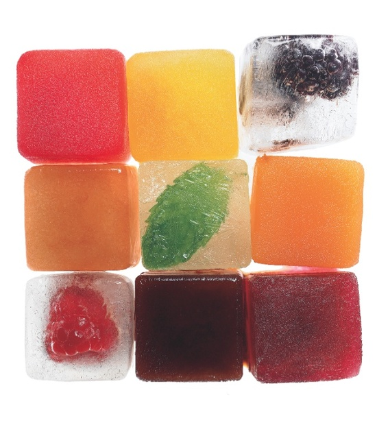 flavored ice cubes #ice #fruit