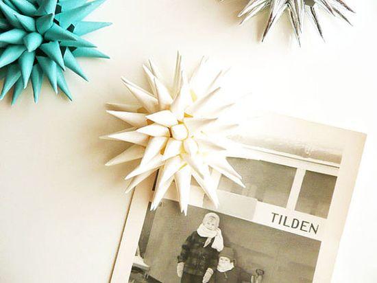 Magnetic Spiky Paper Flower 3D Art Magnet Home by kissadesign
