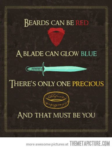 Lord of the Rings Valentine.