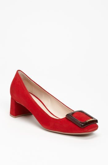 Prada Buckle Pump available at #Nordstrom