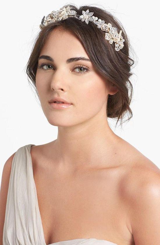 Soft, natural hair with a Swarovski crystal headband