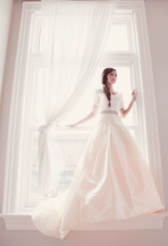 One of the most beautiful modest wedding dresses