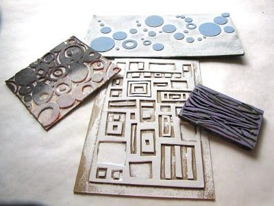 Excellent post on making your own stamps. Lots of materials and techniques clearly explained.