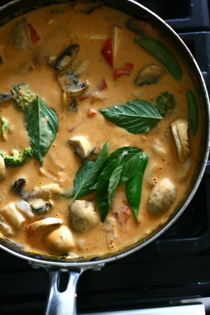 Thai Penang Curry with Coconut Milk and Tofu