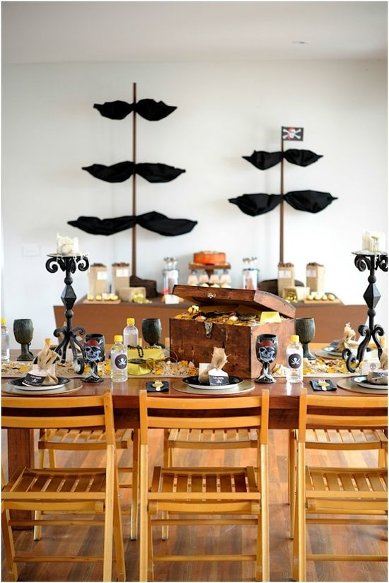Boys Pirate Themed Birthday Party Ideas www.spaceshipsand...