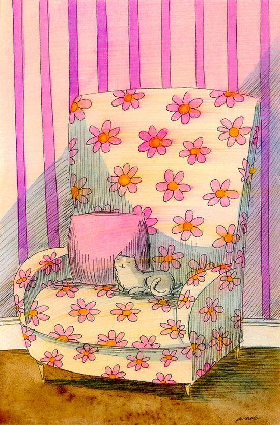 Flowered chair - Nicole Wong
