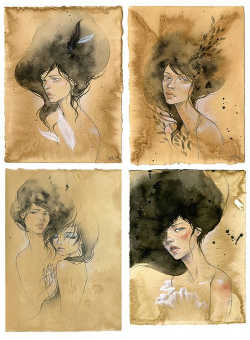 Stella Im Hultberg Korean-born, Brooklyn-based, Stella Im Hultberg. I like the collabo with Audrey Kawasaki (bottom left).