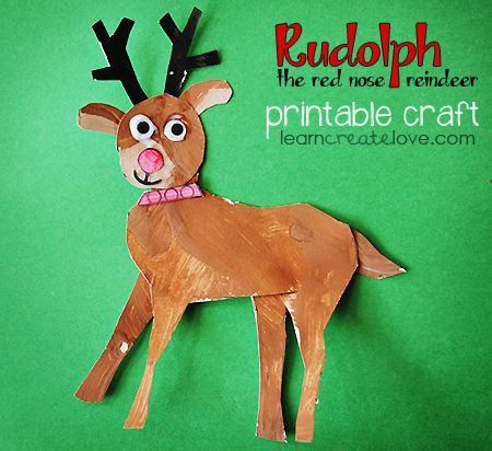 { Rudolph the Red Nose Reindeer Craft }