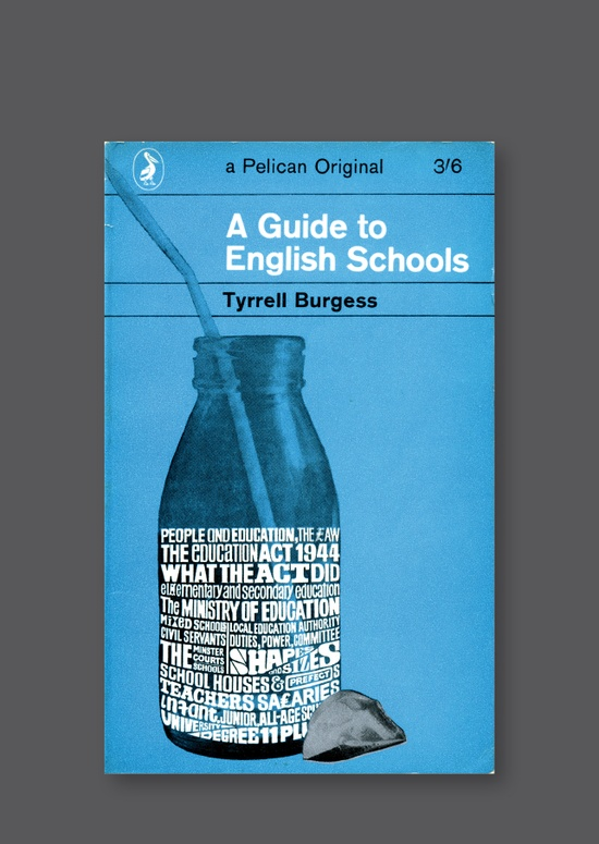 Pelican A690 - A Guide to English Schools [1964] Cover design by Alan Aldridge