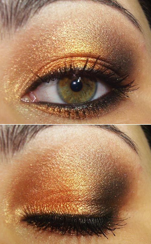 Love gold eyeshadow