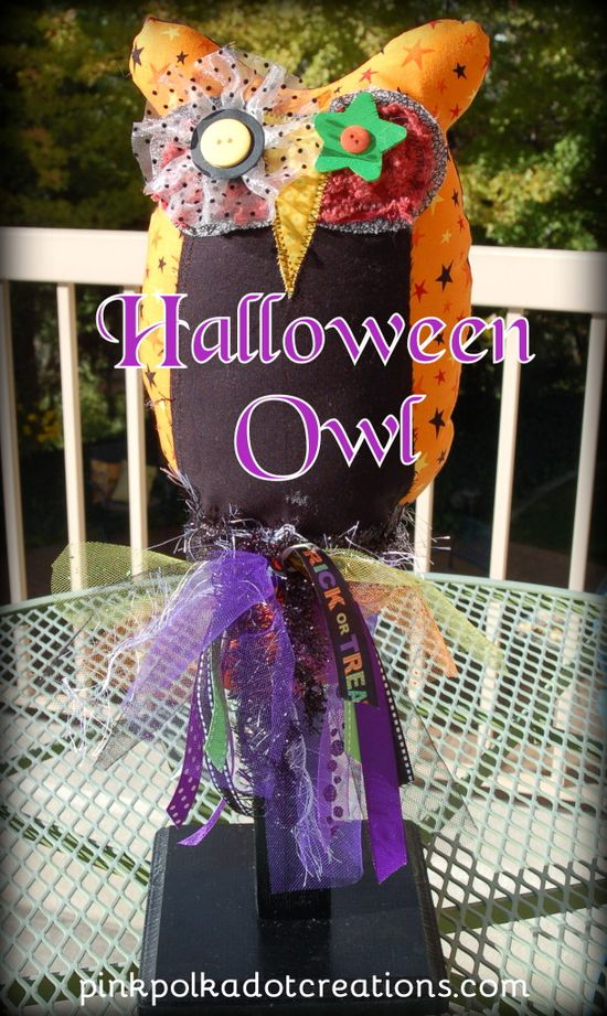 Sew a Halloween Owl