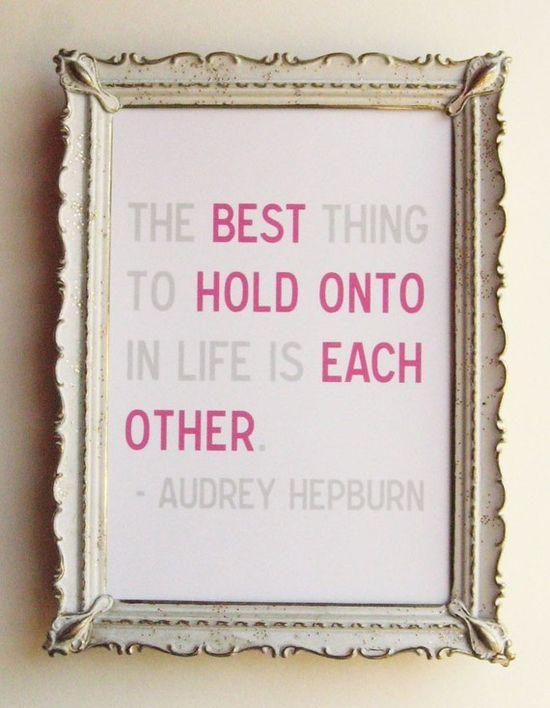 Amen Audrey!