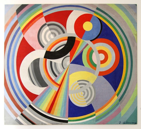Sonia Delaunay, 1938 Rythme No. 1  good for color theory, tints/shades