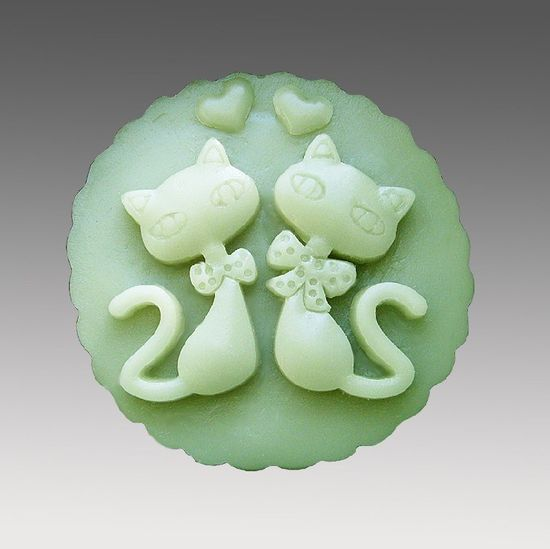 Silicone Handmade Soap Mold Chocolate Mold Round with Animal