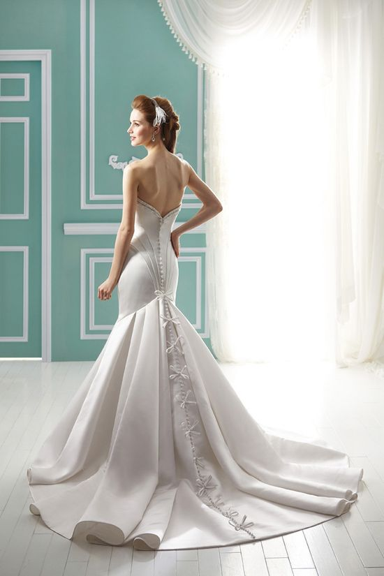 loving the back of this dress ~ Jasmine Bridal Collection Fall 2012