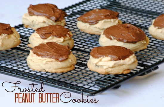 Frosted Peanut Butter Cookies that are amazing. Come check it out @thefarmgirlrecipes