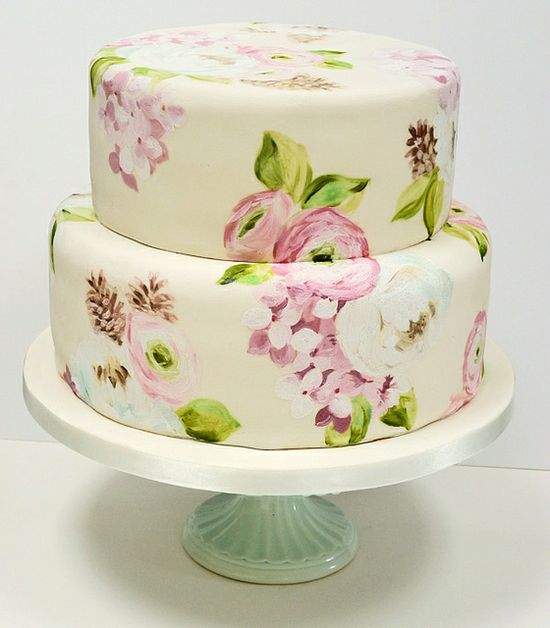 AMAZING painted cake by Nevie-Pie Cakes!