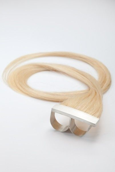 Sterling Silver Knuckle Ring with Human Hair by Polly van der Glas
