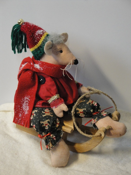 Primitive Mice Christmas Decoration by MorningMistDesigns on Etsy