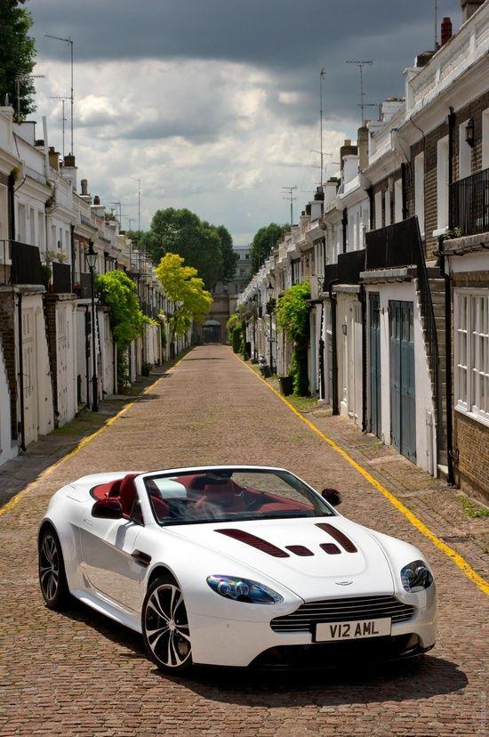 ? white car 2013 Aston Martin V12 Vantage Roadster #ecogentleman #automotive #cars #luxury sports cars #ferrari vs lamborghini