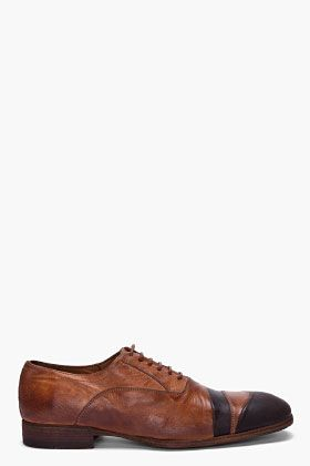 ALEXANDER MCQUEEN Tan Rustic Leather Shoes