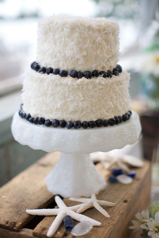 Beach wedding cake.