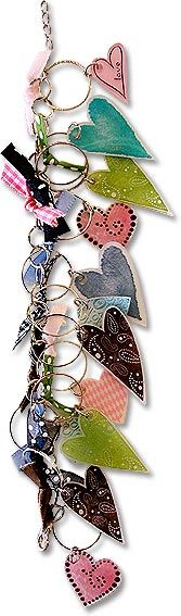 Shrink-plastic hearts bracelet - cute idea, especially for kids   #handmade #jewelry