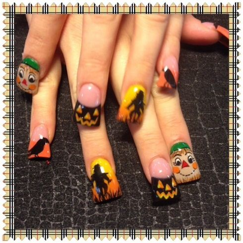 Scarecrows  by Oli123 - Nail Art Gallery nailartgallery.na... by Nails Magazine www.nailsmag.com #nailart