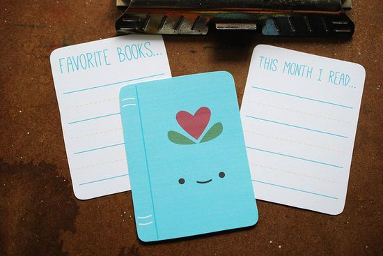 Free Printable Book Journal Cards from wildolive