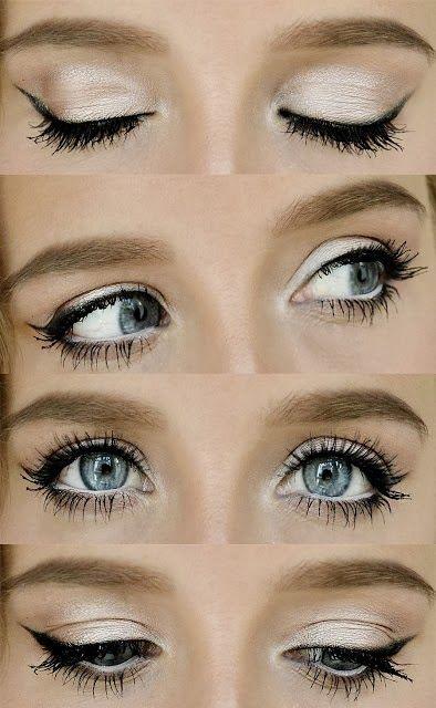 Pearl eye makeup