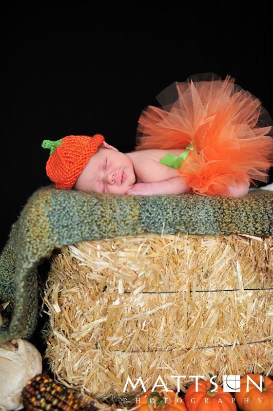 Little Pumpkin Tutu - Newborn Infant Baby Toddler Girl - Orange Halloween Costume Outfit - Photography Prop - October Baby Shower Gift