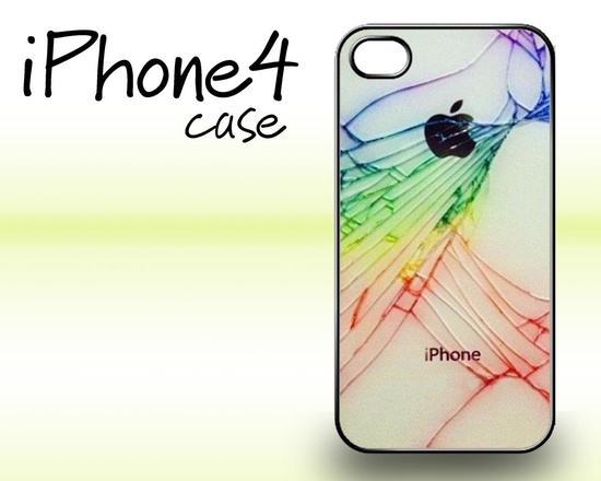 Colorful Cracked iphone case iphone 4 and 4s