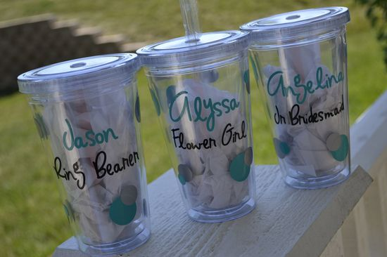 Personalised tumblers great for children in the bridal party Claireaddisondesigns,+$11.00