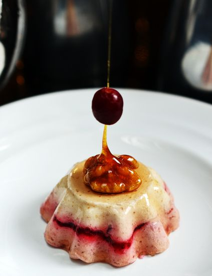 Maple Walnut and Cranberry Mousse
