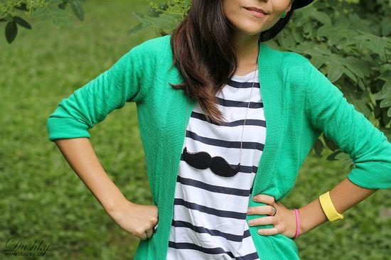 #Moustache #necklace by #Dushky