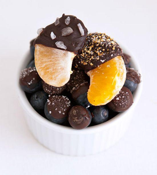 Chocolate Covered Mandarins and Blueberries by familyfreshcooking #Chocolate #Mandarin_Oranges #Blueberries #familyfreshcooking