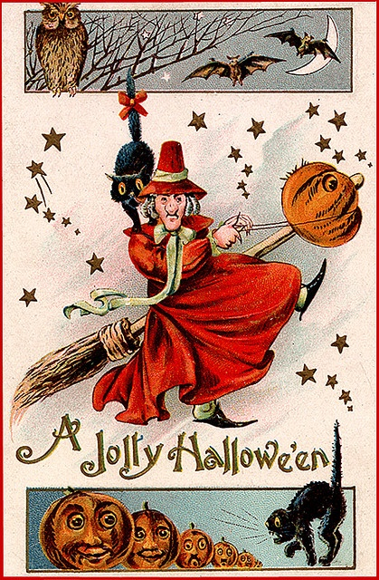 Red Haggy Witch Vintage Halloween
