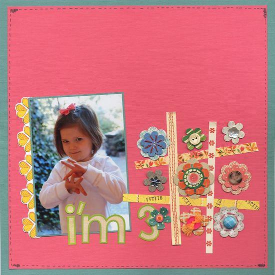 """""""I'm 3!"""" - Scrapbook.com - #scrapbooking #layouts"""