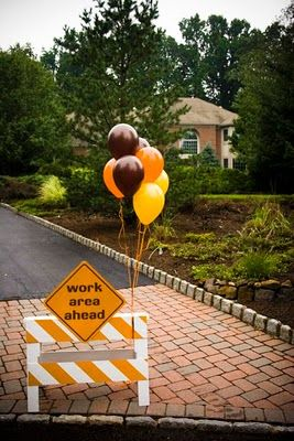 Construction party sign
