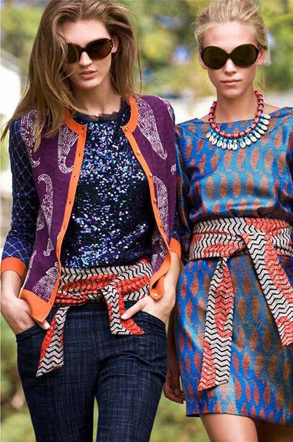 African prints and patterns are so much fun.