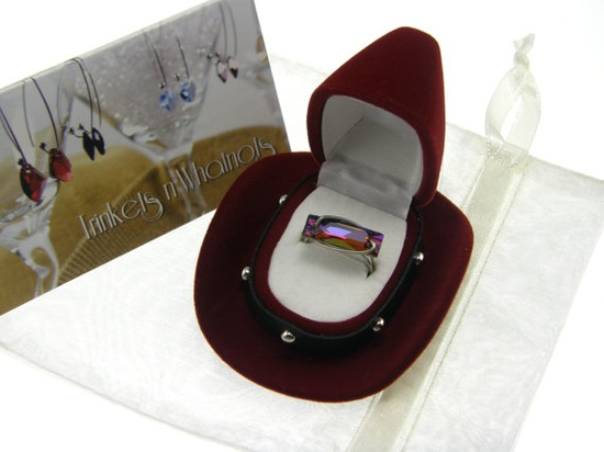 Limited Edition Crystal Swarovski Ring by TrinketsNWhatnots, $35.00  Only 20 available.  Same rings being gifted to the CMA Awards.  www.trinketsnwhat...