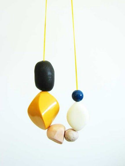 Simple polymer clay necklace