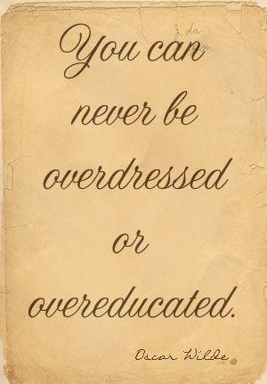 Oscar Wilde - genious.