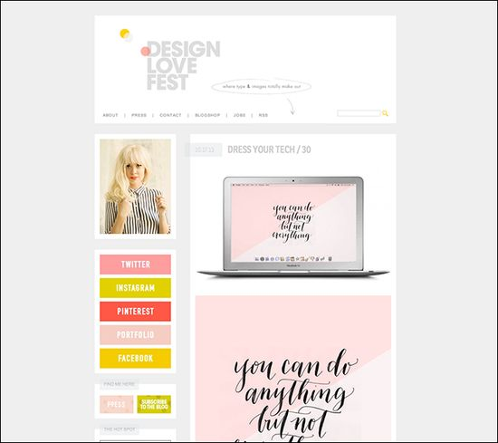 Inspiring Graphic Design Blogs: DesignLoveFest